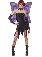 Gothic Tinkerbell Evil Pixie Fairy Adult Costume Size: Large #01375