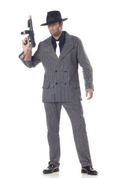 Gangster  Adult Costume Size: Medium #01028