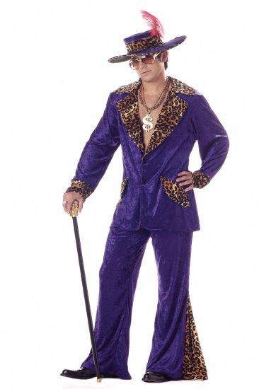 Hustler Pimp Adult Costume Size:  X-Large #00839_Purple