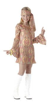 70's Hippie Disco Dolly Child Costume Size: X-Large #00263