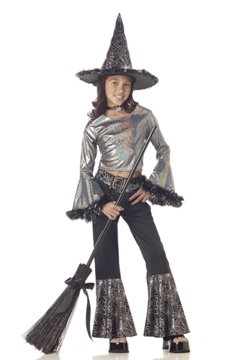Hip Witch Child Costume Size: Large