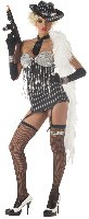 20's Fashion Flapper Glitzy Gangster Adult Costume Size: Large #00954