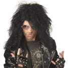 Heavy Metal Rocker Adult Costume Wig #70562_Black