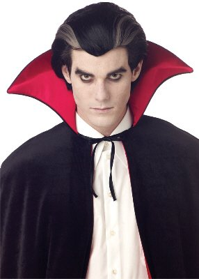 Modern Vampire Dracula Adult Costume Wig #70135