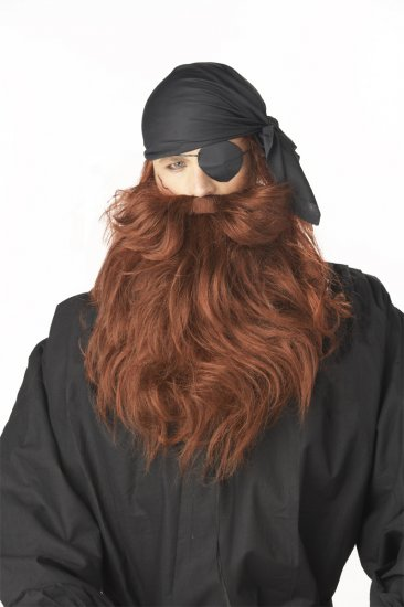 Pirate Captain Costume Beard & Moustache #70489