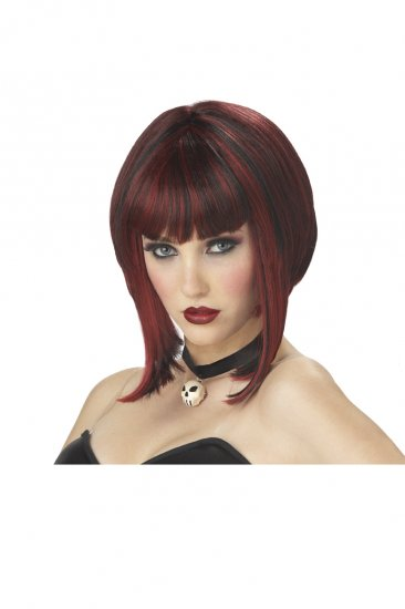 Sex Dark Gothic Red Riding Hood Red Adult Costume Wig #70123