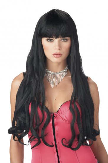 Serpentine Ariel Mermaid Adult Black Costume Wig #70397