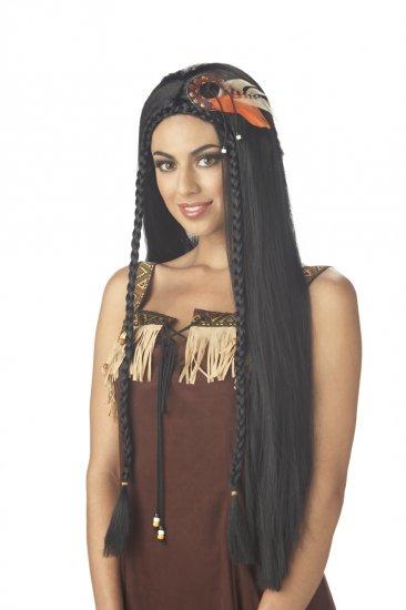 Sexy Indian Pocahontas Princess Adult Costume Wig #70508