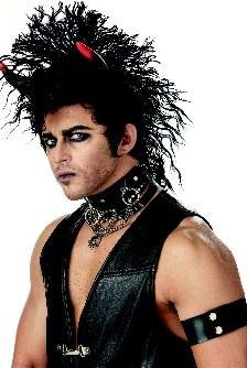Sinister Punk Rock Star Adult Costume Wig