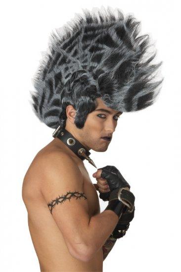Spider Web Mohawk Punk Rock Adult Costume Wig #70475