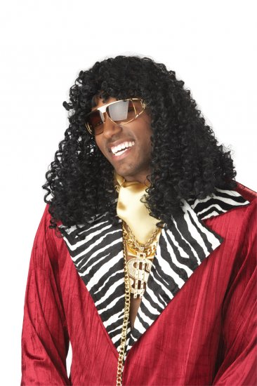 Supa' Freakin Jerry curls Pimp Daddy Adult Costume Wig #70474