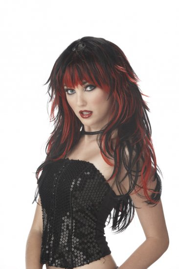 Rock Star Tempting Tresses Adult Costume Wig #70056_Red