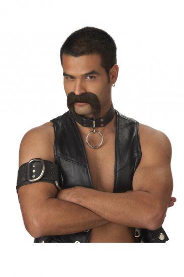 YMCA The Leather Daddy Cop Police Costume Moustache #70487