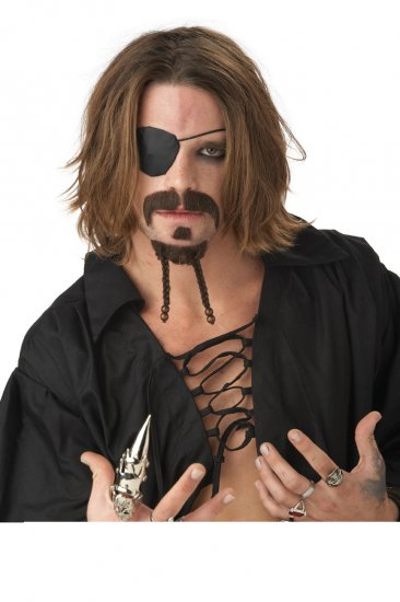 The Rogue Pirate Buccaneer - Moustache & Beard Costume Accessory #70449