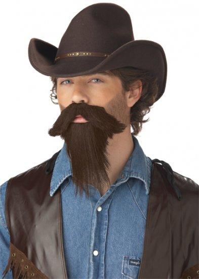 The Rustler Western Cowboy Adult Costume Beard Accessory #70095