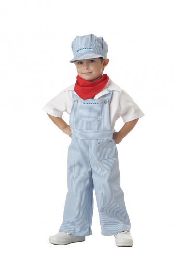 Amtrak Train Engineer Conductor Toddler Costume Size: Large #00049