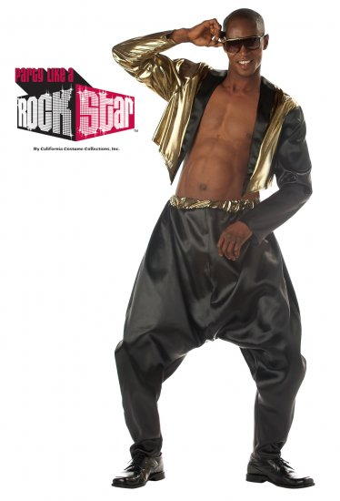 Size: Large/X-Large #00789 90's Old School Rapper MC Hammer Adult Costume