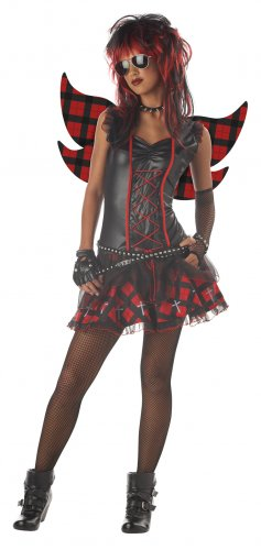 Punk Rock Rebel Fairy Teen Costume Size: Jr (11-13) #05030
