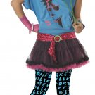 Punk Rock 80's Valley Girl Teen Costume Size: Jr (7-9) #05038