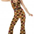 70's Saturday Night Fever Disco Boogie Babe Adult Costume Size: Small #00918