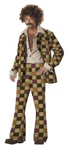 Size:  X-Large #00919 1970's Disco Sleazeball Pimp Daddy Adult Costume