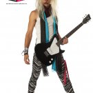 1980's Punk Rock Star Adult Costume Size: Medium #00974