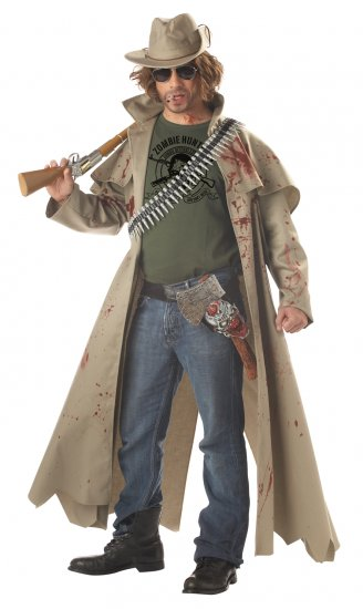 Walking Dead Zombie Hunter Adult Costume Size: Medium #00933