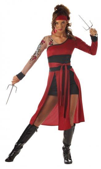 Japanese Kung Fu Warrior Tigress Ninja Teen Costume Size:  Jr (3-5) #05042