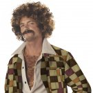 Disco Dirt Bag Pimp Daddy Hustler Wig & Moustache  #70034