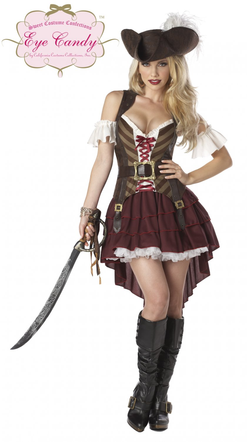 Size: Large #01164 Buccaneer Sexy Swashbuckler Pirate Adult  Costume