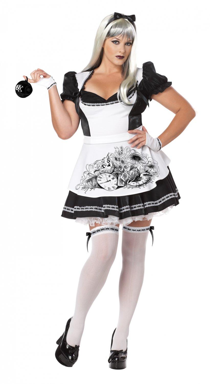 Gothic Dark Alice in Wonderland Adult Plus Size Costume: 2X-Large #01698