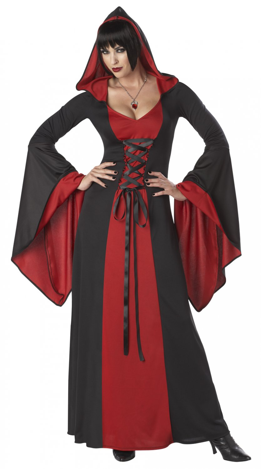 Size: Medium #01148 Handmaiden Gothic Vampire Deluxe Hooded Robe Adult Costume