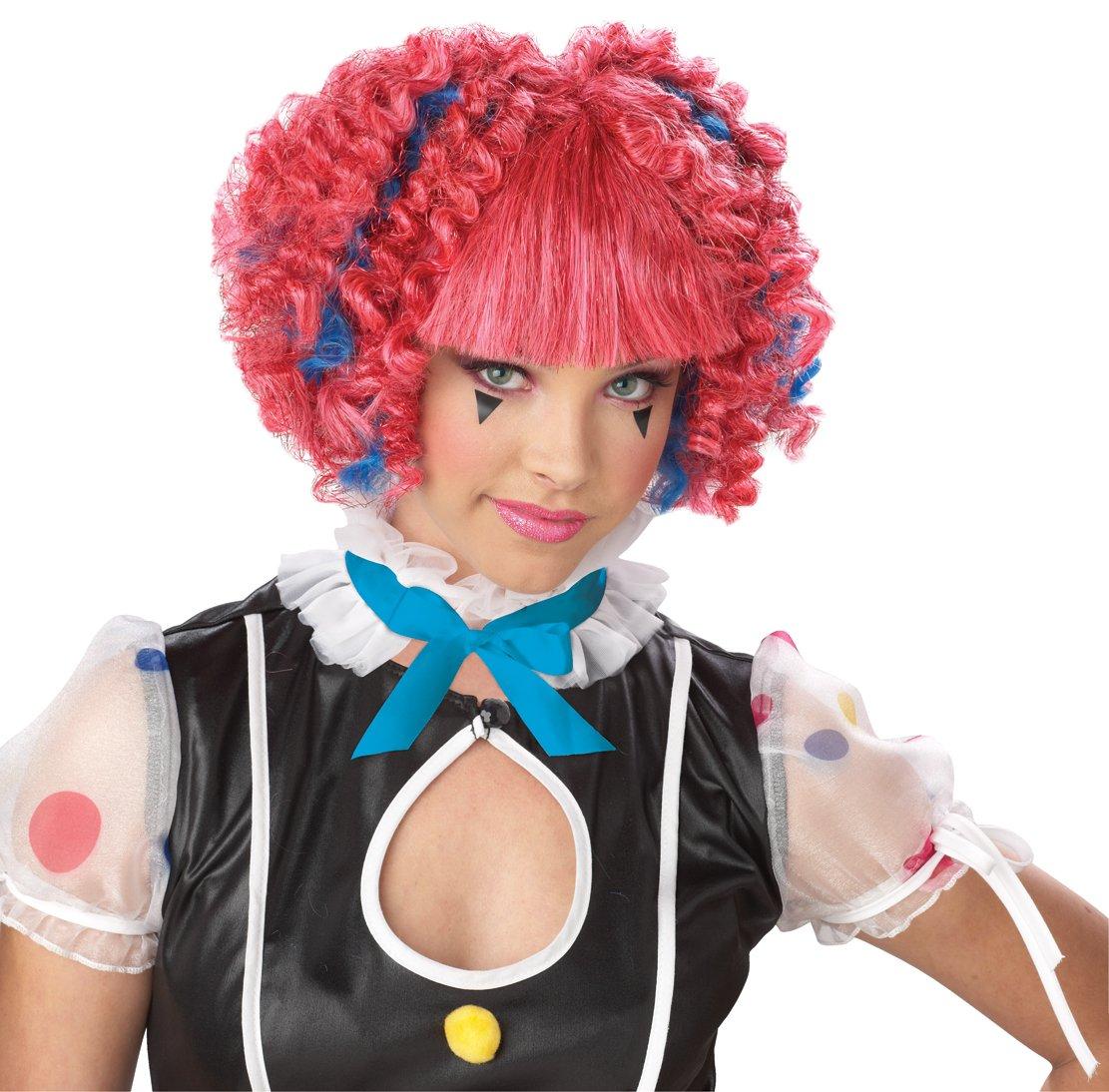 Clown Sassie Spirals Costume Wig