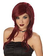 Working Girl Adult Costume Wig Burgundy Color #70194