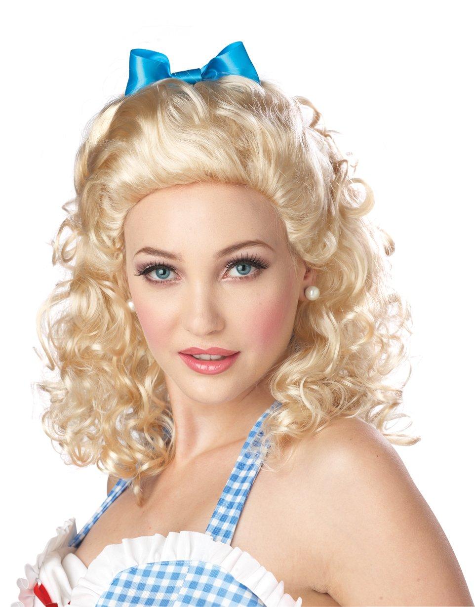 Sweet Farm Girl Adult Costume Wig - Blonde