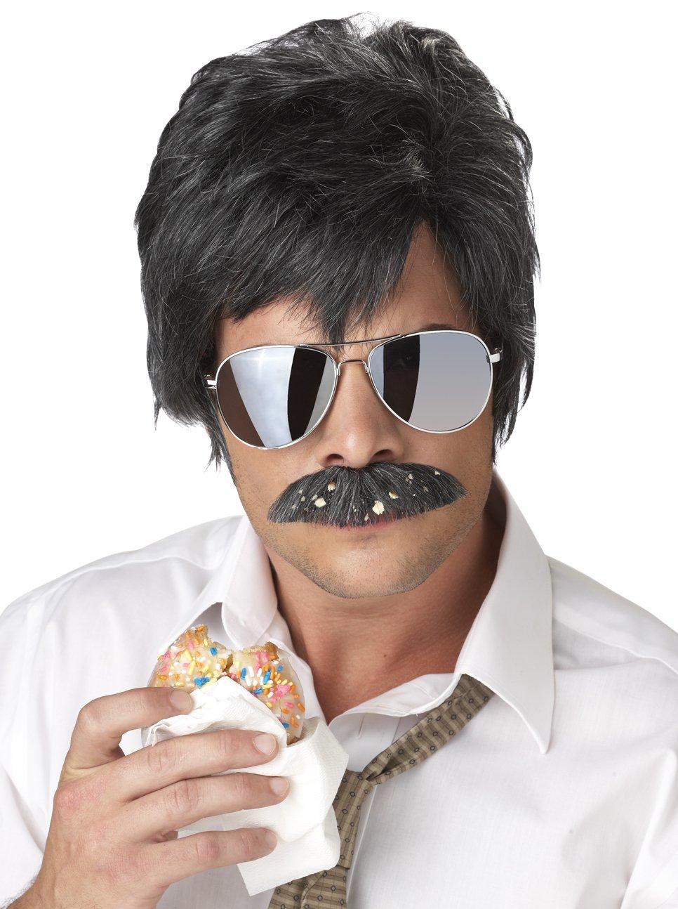 Ace Detective Reno Cop Jim Carrey Adult Costume Wig and Moustache #70644