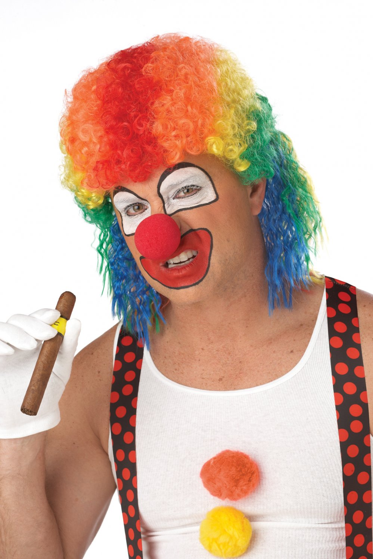 Joker Circus Clown Mullet Adult Costume Wig #70012