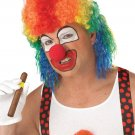 Joker Circus Clown Mullet Adult Costume Wig #70012