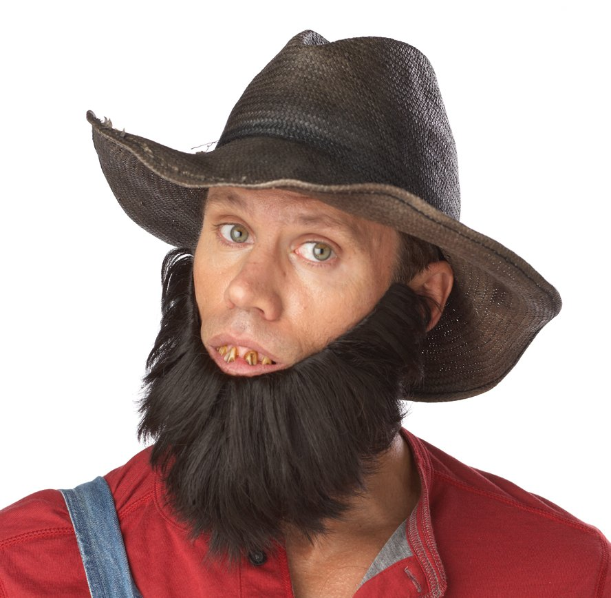Farmer Hillbilly Costume Beard Facial Hair Wig #70077