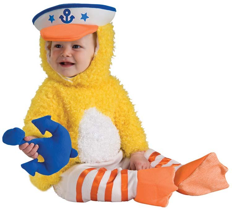 Size: 6-12 Months #885781S  Navy Baby Infant Duckie Sailor Child Costume