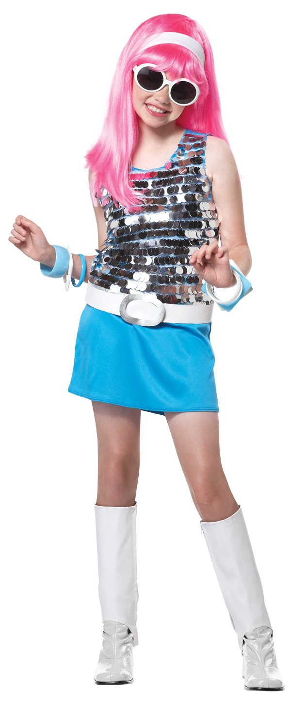 Disco Go Go Girl Rock Star Child Costume Size: X-Large #00331