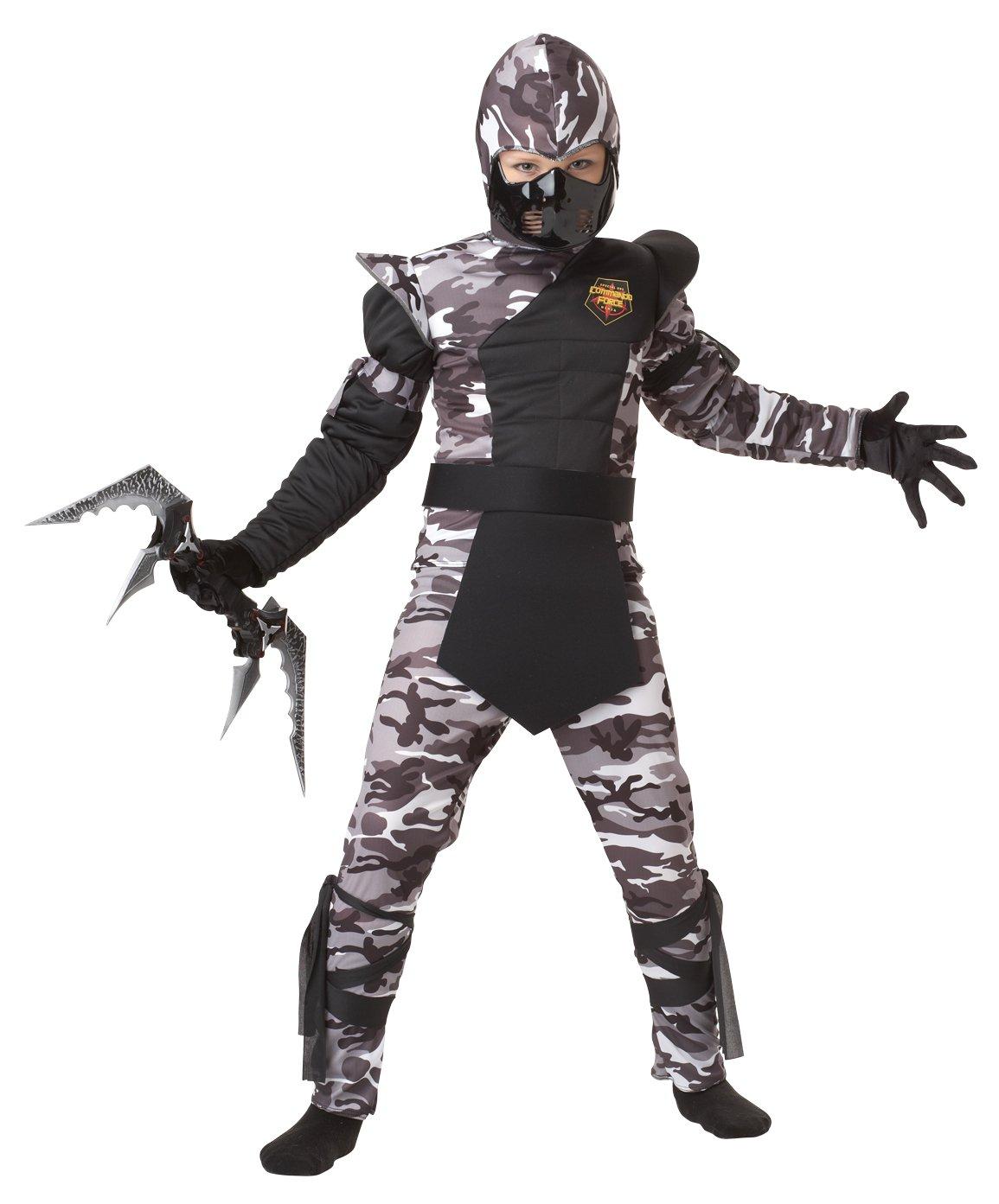 Arctic Force Ninja Stealth Samurai  Child Costume Size: Large Plus  #00341