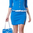 Retro Stewardess Adult Costume Size: Medium #1209