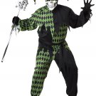 Dark Jester Clown Jokes on You Adult Plus Size Costume #01716