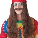 CHeech and Chong Hippie Man 70's Adult Costume Wig and Beard #70666