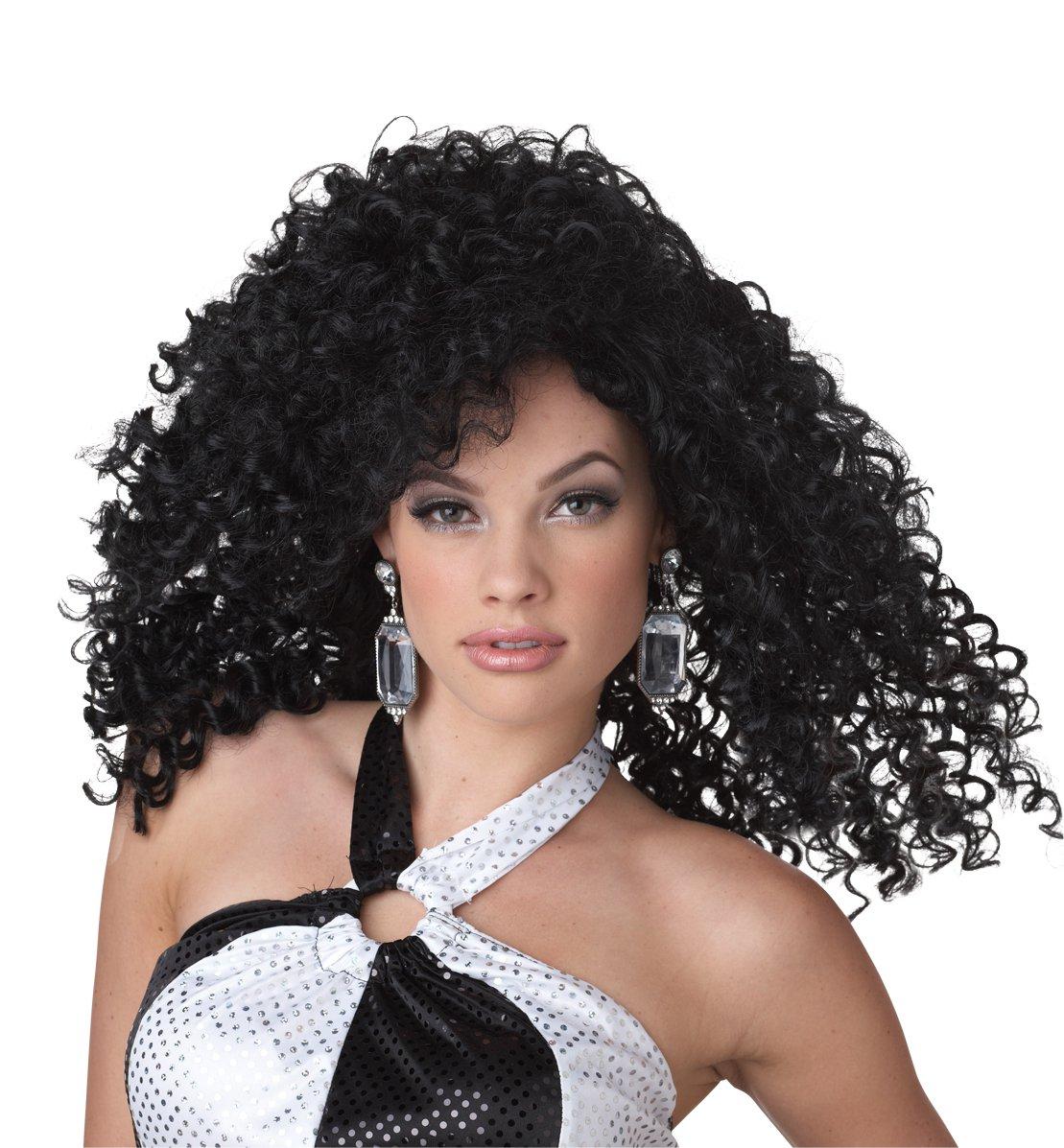 Dancing Queen Disco Fever Adult costume Wig #70660_Black