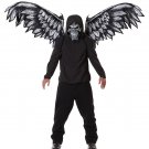 Fallen Angel Skull Mask and Wings Costume Accessory #60548