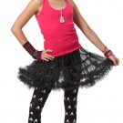 Size: Small/Medium #60513  Black Pettiskirt Ruffled Underskirt Tween Child Costume