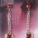 #60356 Gothic Eternal Heart Earrings Costume Accessory