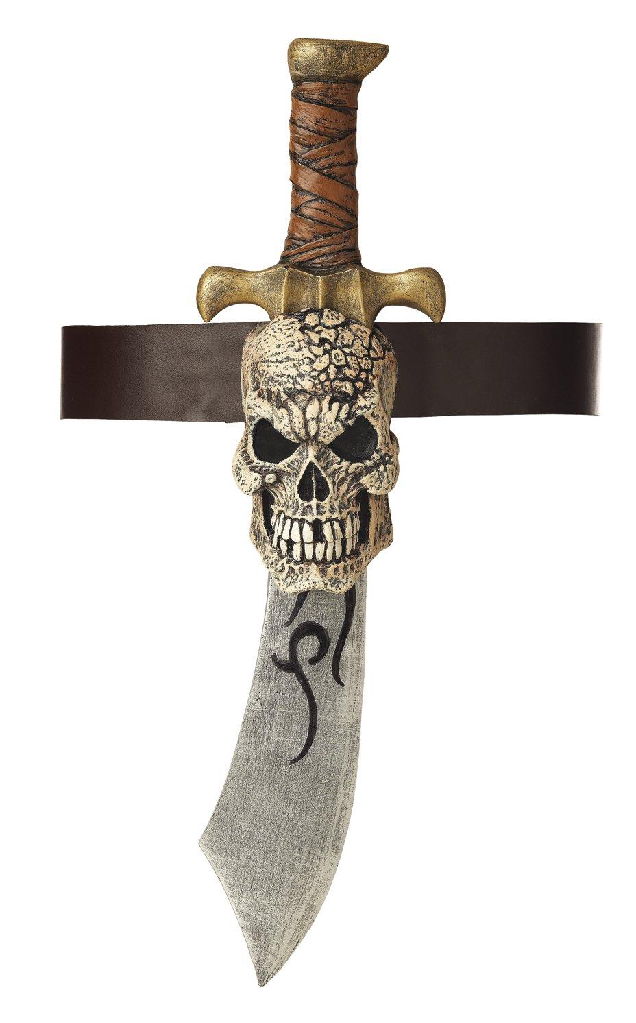 Pirate Sword & Skull Sheath Costume Toy Weapon